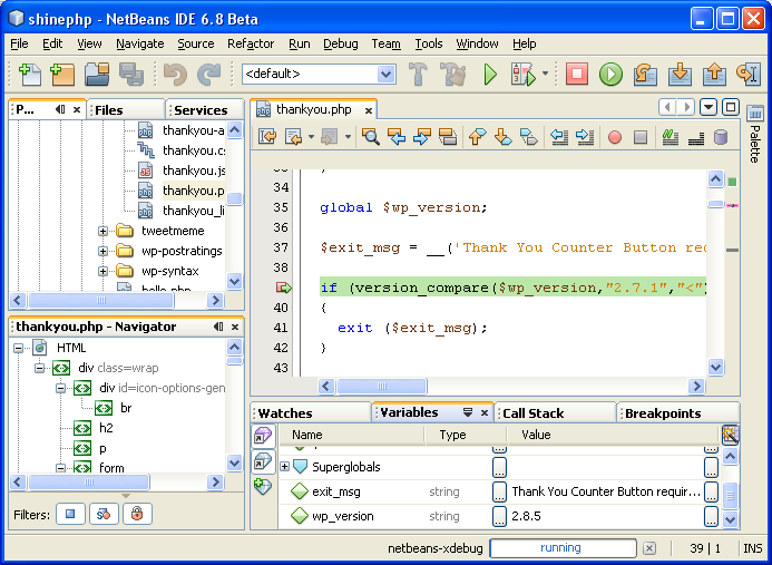NetBeans As Is