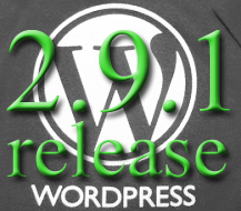 WordPress 2.9.1 release