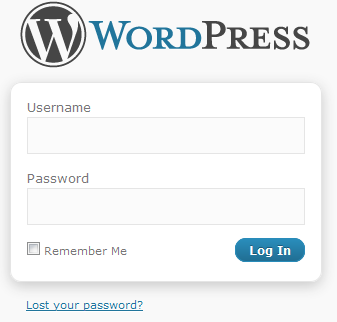 WordPress 3 Login screen
