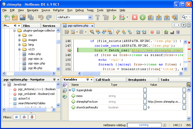 NetBeans 6.9 Release Candidate 1 in action