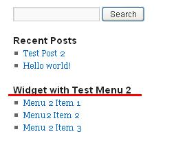 Sidebar menu widget