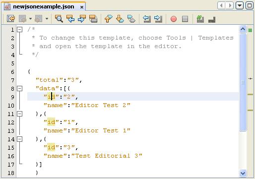 NetBeans IDE 7 JSON formatter