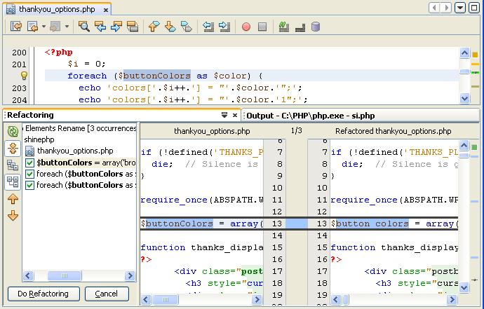 NetBeans IDE 7.0 Rename Refactoring