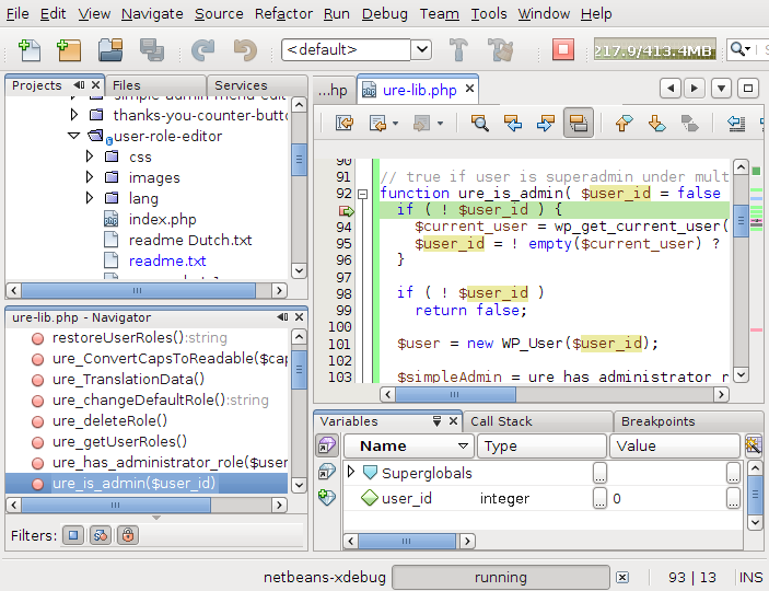 NetBeans IDE 7.0 Beta General View