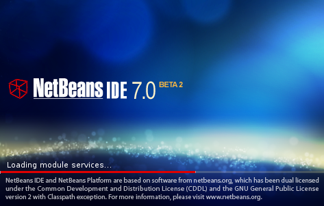 NetBeans IDE 7.0 Beta 2 Spash Window