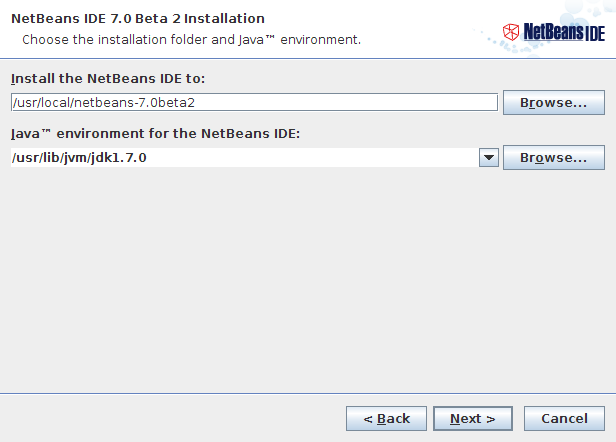 NetBeans IDE Installer Step 3