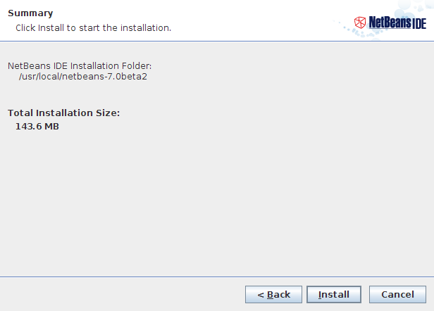 NetBeans IDE Installer Step 4