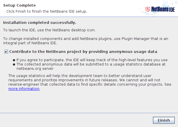 NetBeans IDE Installer Step 6