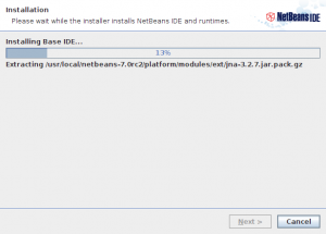 NetBeans IDE 7.0 RC2 installer step 5