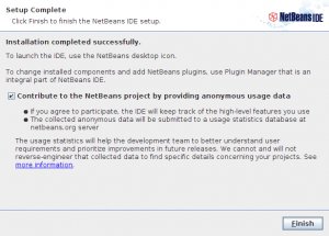 NetBeans IDE 7.0 RC2 installer step 6