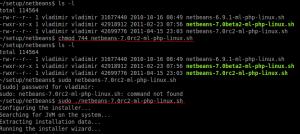 NetBeans IDE 7.0 RC2 setup command line