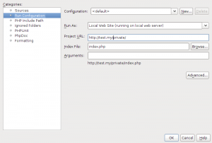 NetBeans 7 Project Properties Run Config