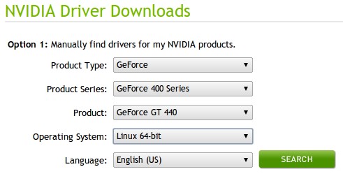 NVIDIA driver download