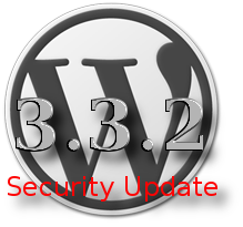 wordpress 3.3.2 security update
