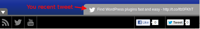 Social Toolbar Free - in action