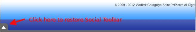 Social Toolbar - hidden state