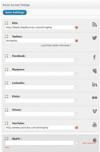 Social Toolbar - social profiles